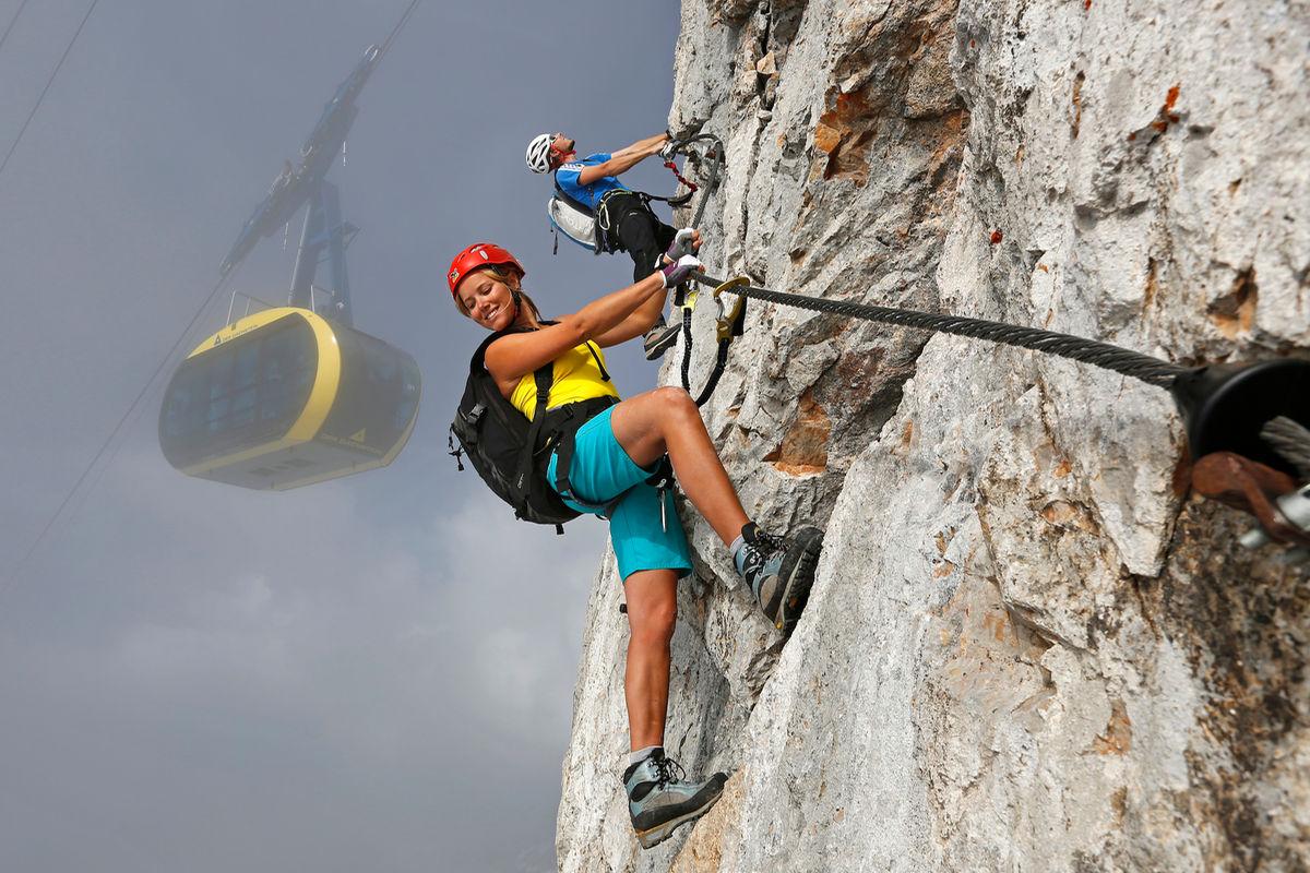 Klettersteig Bandschlinge : Skywalk klettersteig tour zimmer appartements pension sonnhof
